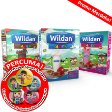 [Promo Merdeka] Wildan ADEK Vanilla, Chocolate & Strwaberry 550g x 3 boxes